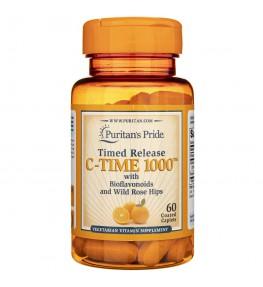 Puritan's Pride Witamina C - 1000 mg Powolne Uwalnianie - 60 tabletek