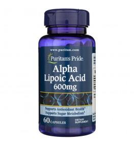 Puritan's Pride Kwas Alfa Liponowy 600 mg - 60 kapsułek