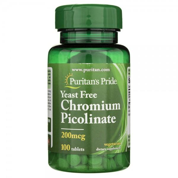Puritan's Pride Chrom pikolinian 200 µg - 100 tabletek