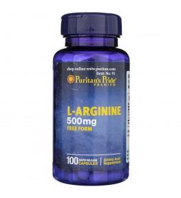 Puritan's Pride L-Arginina 500 mg - 100 kapsułkach