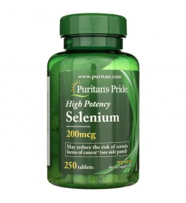 Puritan's Pride Selen 200 mcg - 250 tabletek