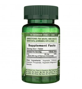 Puritan's Pride Glukonian żelaza 28 mg - 100 tabletek
