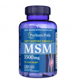 Puritan's Pride MSM (siarka organiczna) 1500 mg - 120 tabletek