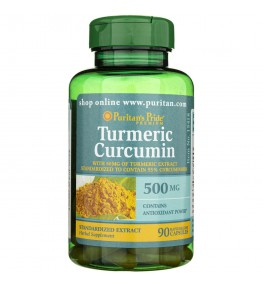 Puritan's Pride Ekstrakt z Kurkumy 500 mg - 90 kapsułek