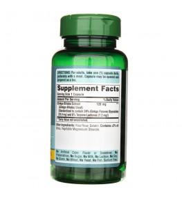 Puritan's Pride Ginkgo Biloba (standaryzowana) 120 mg - 100 kapsułek