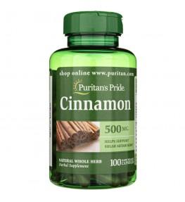 Puritan's Pride Cynamon 500 mg - 100 kapsułek