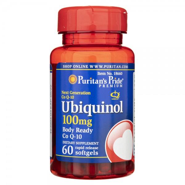 Puritan's Pride Ubichinol 100 mg - 60 kapsułek
