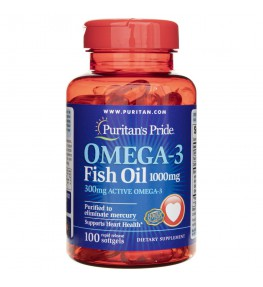 Puritan's Pride Olej Omega-3 1000 mg - 100 kapsułek