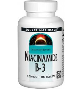 Source Naturals Niacinamide 1500 mg - 100 tabletek