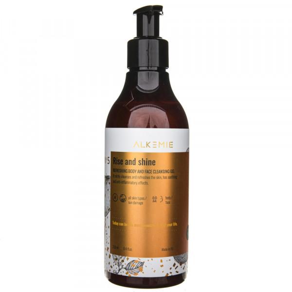 Alkemie Odświeżający żel do mycia ciała i twarzy Rise and shine - 250 ml