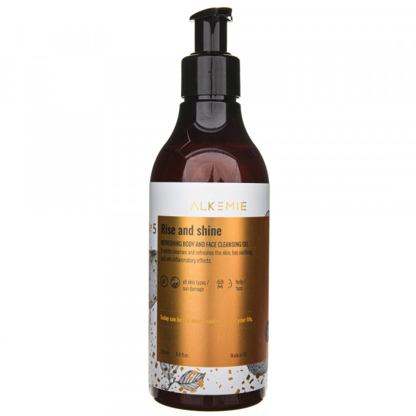 Alkmie Odświeżający żel do mycia ciała i twarzy Rise and shine - 250 ml