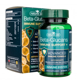 Natures Aid Beta Glucans Immune Support + - 30 tabletek