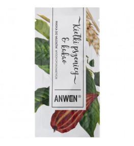 Anwen Maska do włosów wysokoporowatych Kiełki pszenicy i Kakao w saszetce - 10 ml