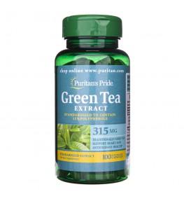Puritan's Pride Zielona Herbata ekstrakt standaryzowany 315 mg - 100 kapsułek