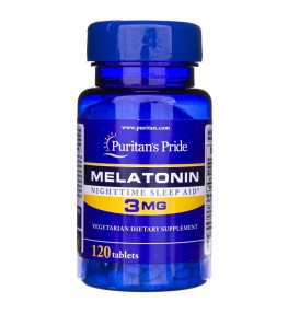 Puritan's Pride Melatonina 3 mg - 120 tabletek