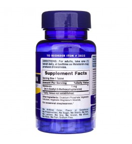 Puritan's Pride Melatonina 1 mg - 90 tabletek