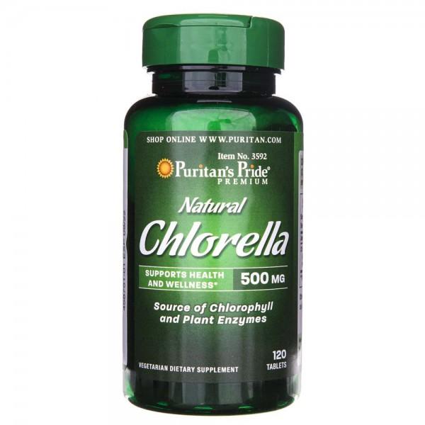 Puritan's Pride Chlorella 500 mg - 120 tabletek