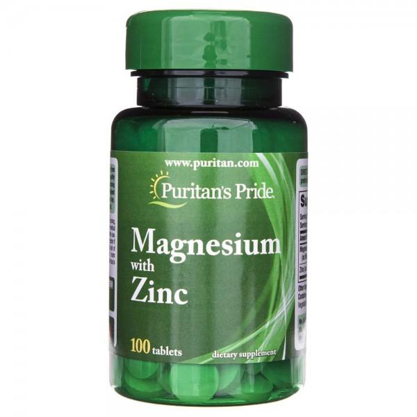 Puritan's Pride Magnez z cynkiem - 100 tabletek