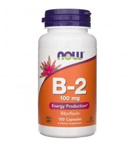 Now Foods Witamina B2 (ryboflawina) 100 mg - 100 kapsułek