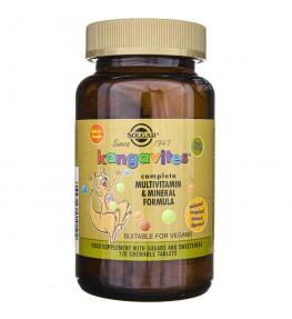 Solgar Kangavites witaminy dla dzieci (smak tropikalny) - 120 pastylek