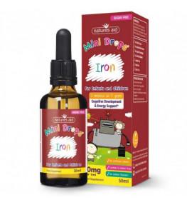 Natures Aid Żelazo dla dzieci w kroplach - 50 ml