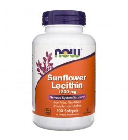 Now Foods Sunflower Lecithin (Lecytyna Słonecznikowa) 1200 mg - 100 kapsułek
