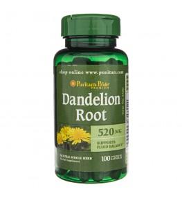 Puritan's Pride Dandelion Root (Mniszek Lekarski) 520 mg - 100 kapsułek