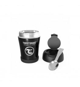 Twistshake Pojemnik termiczny na jedzenie Czarny - 350 ml