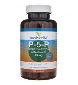 Medverita P-5-P Koenzymatyczna witamina B6 25 mg - 120 kapsułek