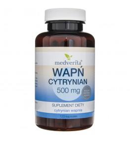 Medverita Cytrynian wapnia 500 mg - 120 kapsułek