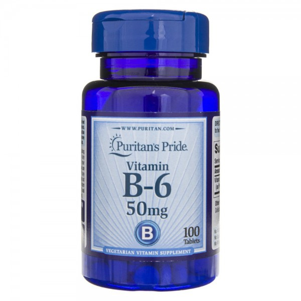 Puritan's Pride Witamina B6 50 mg - 100 tabletek