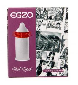 Egzo Hot Red Prezerwatywa z wypustkami - 1 sztuka
