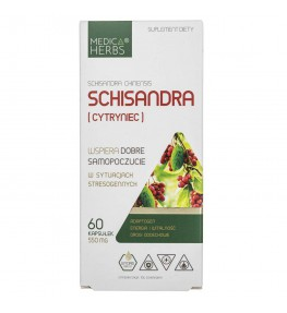 Medica Herbs Schisandra (Cytryniec) 550 mg - 60 kapsułek