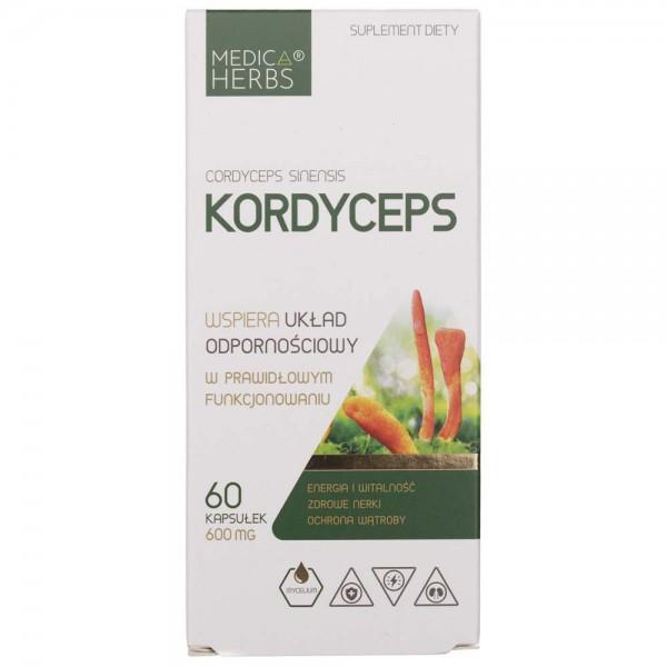 Medica Herbs Kordyceps 600 mg - 60 kapsułek