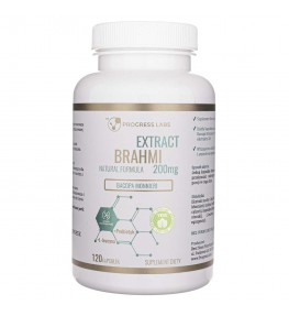 Progress Labs Brahmi Bacopa Monnieri 200mg Ekstrakt 20:1 - 120 kapsułek