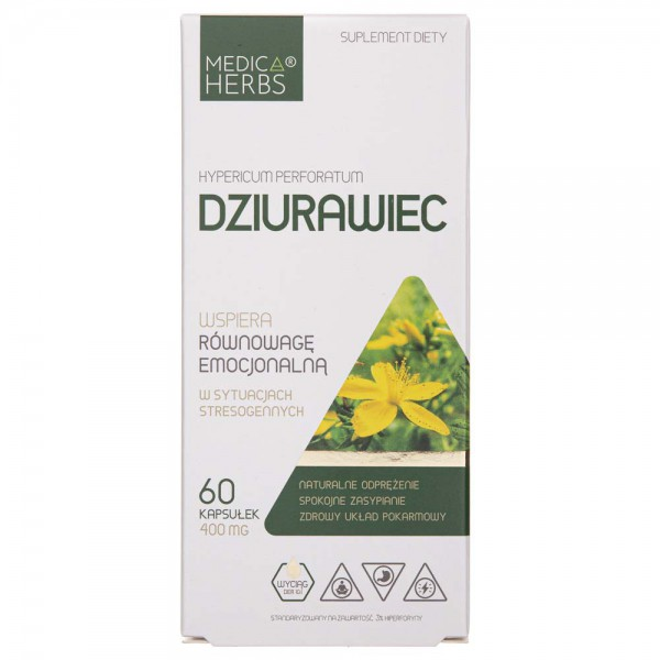Medica Herbs Dziurawiec 400 mg - 60 kapsułek