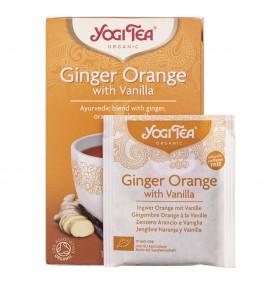 Yogi Tea Ginger Orange Herbatka imbirowo-pomarańczowa z wanilią - 17 saszetek