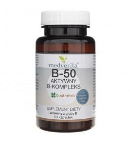 Medverita B-50 metylowany B-kompleks - 60 kapsułek
