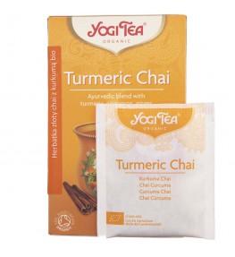 Yogi Tea Turmeric Chai Herbatka Złoty Chai z kurkumą BIO - 17 saszetek