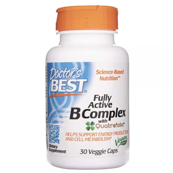 Doctor's Best Fully Active B-Complex - 30 kapsułek