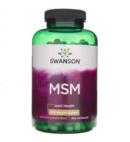 Swanson MSM (siarka organiczna) 500 mg - 250 kapsułek