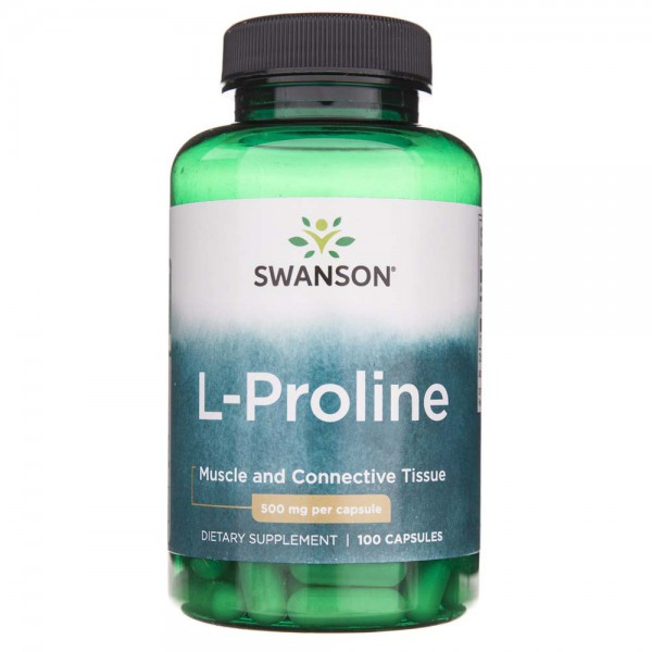 Swanson L-Prolina (L-Proline) 500 mg - 100 kapsułek