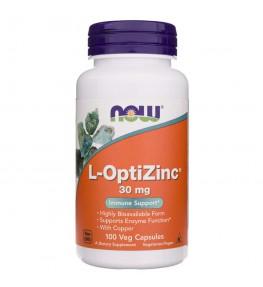 Now Foods L-OptiZinc 30 mg z miedzią - 100 kapsułek