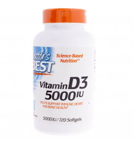 Doctor's Best Witamina D3 5000 IU - 720 kapsułek