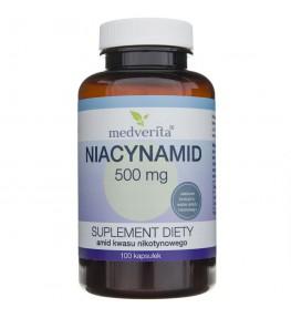 Medverita Niacynamid (amid kwasu nikotynowego) 500 mg - 100 kapsułek