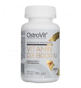 Ostrovit Witamina D3 8000 IU - 200 tabletek