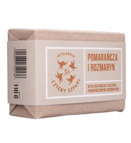 Cztery Szpaki Naturalne mydło Pomarańcza i Rozmaryn - 110 g