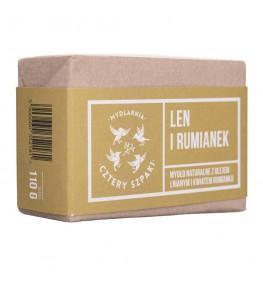 Cztery Szpaki Mydło naturalne Len i Rumianek - 110 g