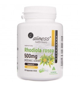 Aliness Rhodiola rosea (różeniec górski) 500 mg - 60 kapsułek