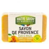 Mydło marsylskie cynamon i pomarańcza 100 g - Maître Savon